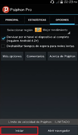 iniciar proxys psiphon 142 android movistar mexico