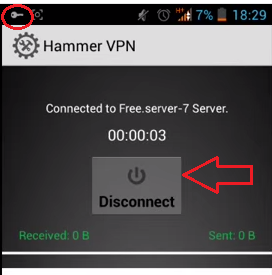 hammervpn conneted