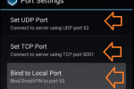 configurar port settings droidvpn 2016