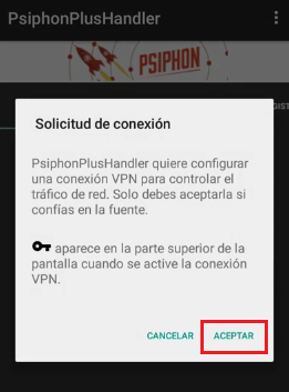 conectar psiphon plus handler apk internet gratis android