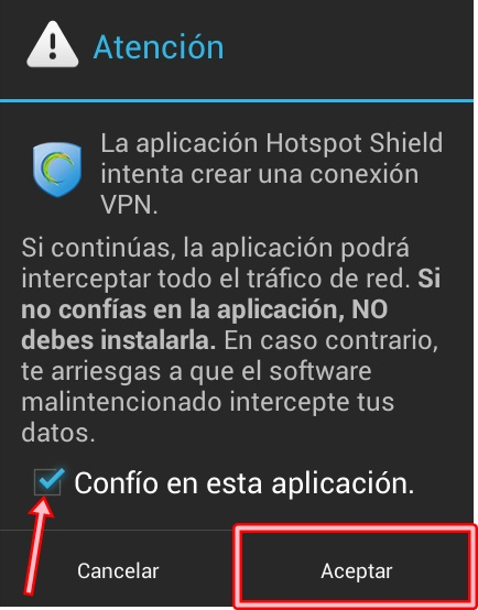 descargar hotspot shield android gratis internet