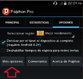 proxys psiphon 142 movistar android