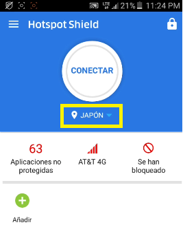 conectar Hotspot shield elite apk 2017