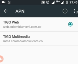 apn web tigo colombia android internet tigo web