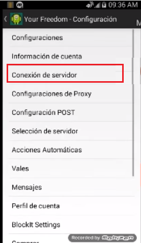 configuracion para your freedom apk tigo
