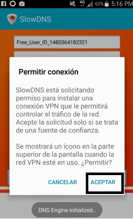 internet entel gratis con slowdns vpn apk