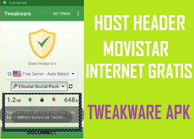 descargar host header movistar tweakware apk