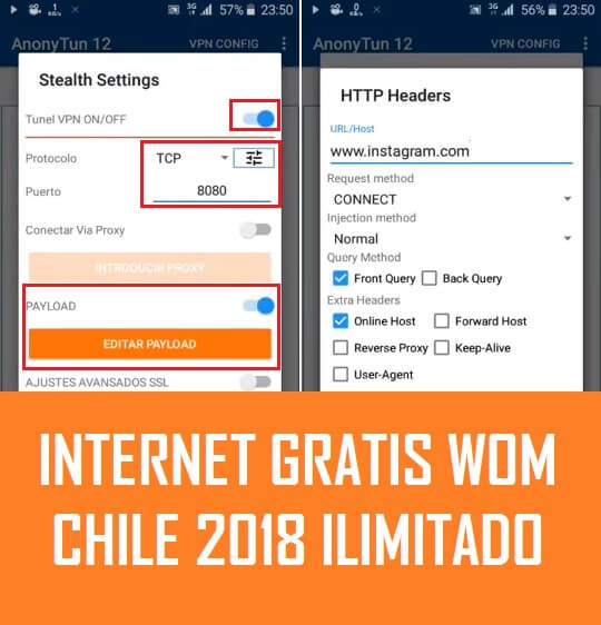 como tener internet gratis wom chile 2018 android anonytun vpn