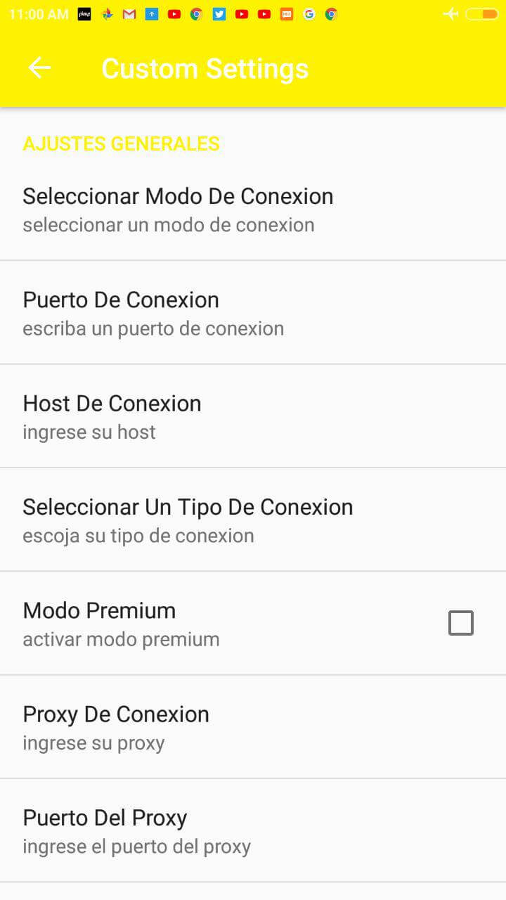 configurar apps vpn bitel android