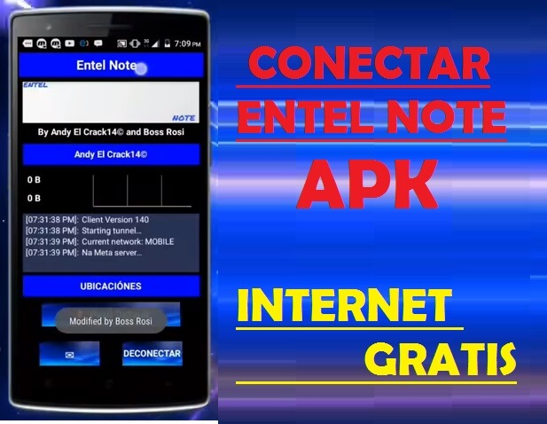entel note apk vpn internet gratis android descargar