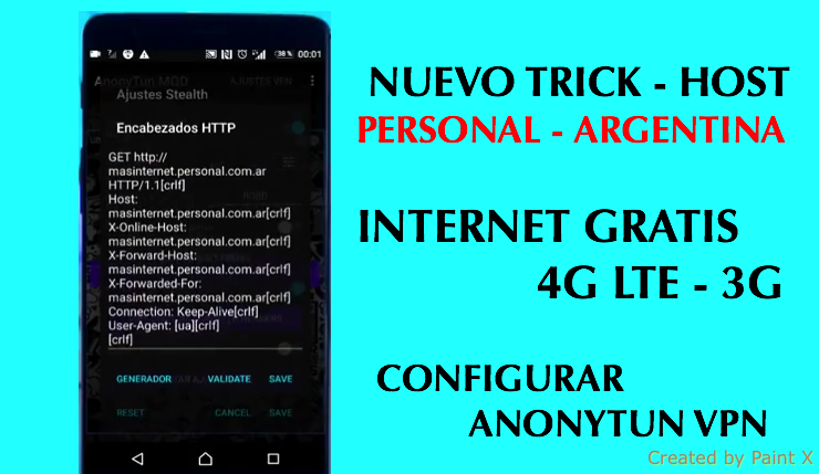 nuevo host y trick personal argentina 2018 anonytun