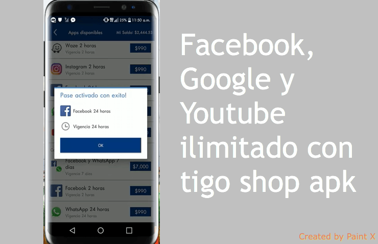 tigo shop internet gratis facebook youtube