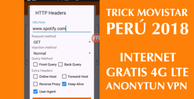 trick movistar peru 2018 netfree 4g lte