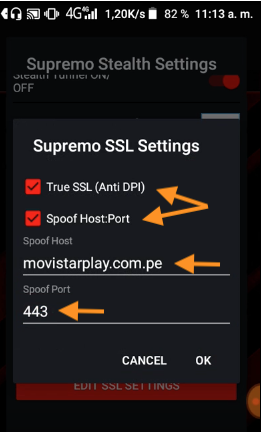 configuraciones supremo vpn netfree movistar peru